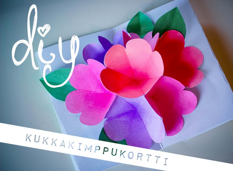 kukkakimppukortti-diy