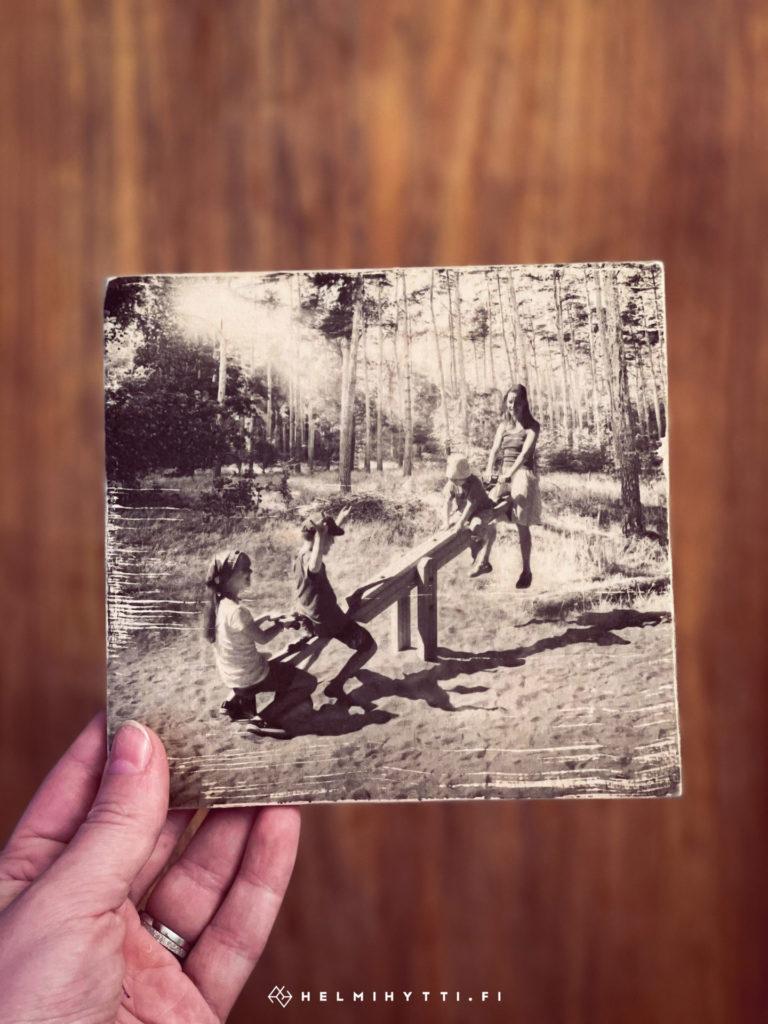 puinen-äitienpäiväkortti